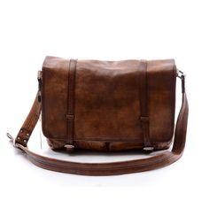 """15""""Men Leather Crossbody Bag Brown Vintage Genuine Leather Laptop Bag,School Shoulder Bag,Student Bag,Satchel,Totes Bag,Crossbody Bag-N032"""