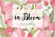Watercolor Flowers Clipart Set by The Autumn Rabbit Ltd on @creativemarket