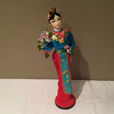 Vintage Japanese Cloth Face Doll 15 on Plastic by KMSCollectibles