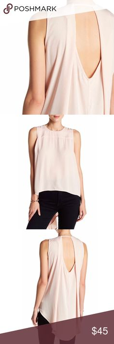 """SALE Hi-Low Tank back closure, crew neck, cut-out detail in back, draped back, hi-low hem, approx. 22.5"""" at the shortest & 34.5"""" at the longest, fits true to size, machine wash cold, 100% polyester, blue available in another listing  Limited quantities. ❓Please ask all your questions before you buy so I can make your purchase absolutely perfect. Tops"""