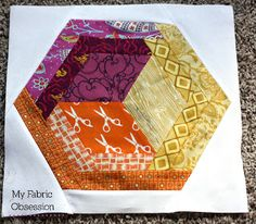 My Fabric Obsession: My bee blocks with basic directions