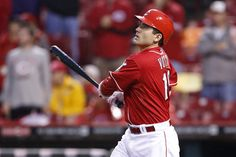 CINCINNATI, OH - MAY 13: Joey Votto #19 of the Cincinnati Reds hits a grand slam in the ninth inning against the Washington Nationals at Great American Ball Park on May 13, 2012 in Cincinnati, Ohio. The Reds won 9-6 as Votto hit three home runs. (Photo by Joe Robbins/Getty Images)