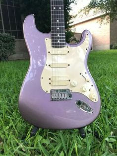"""1993 Fender Artist Jeff Beck Stratocaster Electric Guitar """"Strat Plus"""" Guitar Fender, Fender Electric Guitar, Cool Electric Guitars, Music Aesthetic, Purple Aesthetic, Guitar Amp, Cool Guitar, Ukulele, Jeff Beck"""