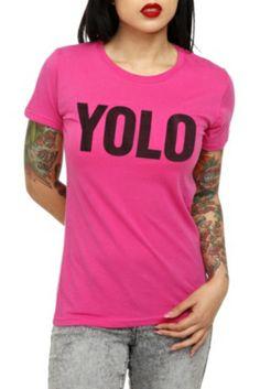 YOLO Pink Girls T-Shirt