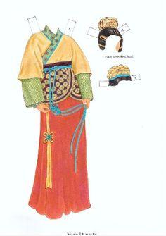Popierinės Lėlės -Traditional Chinese Fashions (Tradicinė Kinų Mada) - Margarita Alosevičiūtė - Picasa Web Albums