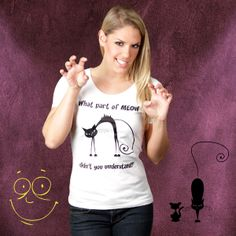 The Angry Cat (Damen T-Shirt) von Kater Likoli auf DaWanda.com