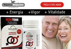 Com o Sexotone, você recupera o vigor físico e sexual, acaba com o estresse e tem mais vitalidade e saúde!