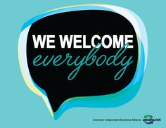 Show your community you welcome everyone and you're and share the love! Independent Business, Small Business Marketing, Welcome, Community, Signs, Wedding Ring, Novelty Signs, Sign, Communion