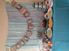 Shark party table
