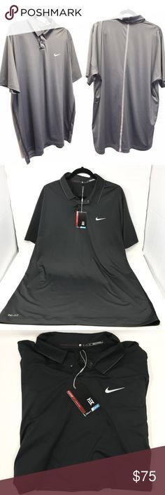 c9b213c244039c NIKE Tiger Woods TW Anthracite Velocity Polo Shirt Color; Anthracite Gray  Style# 685850-