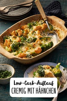 Creamy low-carb broccoli casserole with . - Broccoli Low Carb Casserole with Chicken Creamy Low Carb Broccoli Casserole with Chicken Dinner Veg - Broccoli Bake, Broccoli Casserole, Chicken Broccoli, Diet And Nutrition, Health Diet, Low Carb Recipes, Healthy Recipes, Healthy Food, Snack Recipes