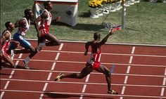Was this the most exciting 100m Olympic final ever? For good and bad reasons.