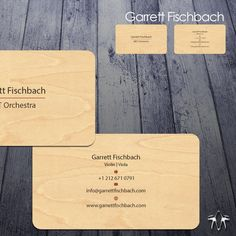Classical Violinist Business Card Printed on Wood by sadzip