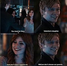"""We don't choose our parents."" Sebastian Verlac and Clary Fairchild in the sneak peek of episode 2x12 #Shadowhunters"