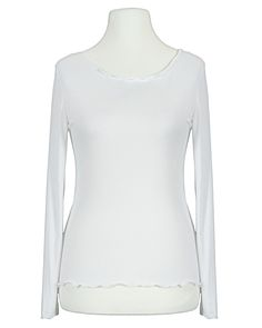 Damen Shirt Viskose, weiss von Made in Italy   meinkleidchen Damenmode aus Italien Shirts & Tops, Basic Shirts, Blouse, Long Sleeve, Sleeves, Women, Fashion, White Shirts, Easy Waves