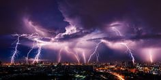Ever wonder why lightning strikes? From thunderstorms to bomb cyclones, Stacker shares answers to 51 weather questions. Tornados, Thunderstorms, Blockchain, Thunderstorm Asthma, Lightning Strikes, Lightning Storms, Lightning Images, Startup, Science Facts