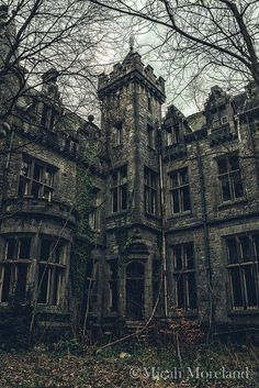 Old Abandoned Buildings, Abandoned Mansions, Abandoned Places, Scary Places, Places To See, Haunted House Pictures, Places Around The World, Around The Worlds, Medieval Castle