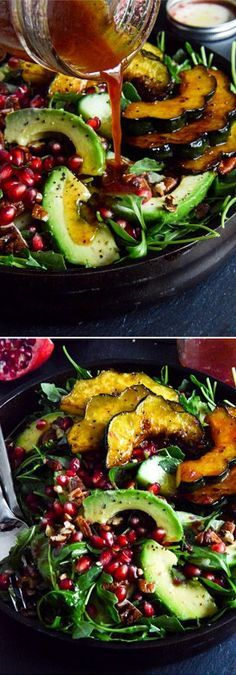 Autumn Arugula Salad. The prettiest plate for your Thanksgiving table! by…