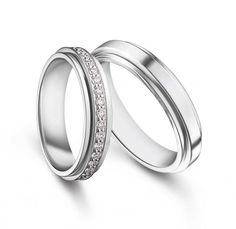 """Possession"" platinum diamond wedding bands by Piaget"