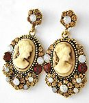 Beautiful cameo earrings @interior concepts