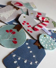 Geschenkanhänger - Nähen, Stoffreste, Weihnachten,