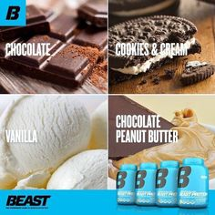 Photo by Beast ® Sports Nutrition on February 09, 2016. Healthy Living Recipes, Healthy Cooking, Healthy Dinner Recipes, New Recipes, Sports Nutrition, Cookies And Cream, Chocolate Cookies, Peanut Butter, Beast