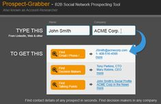 Propsecting for leads on LinkedIn