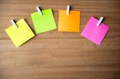 multi coloured note paper