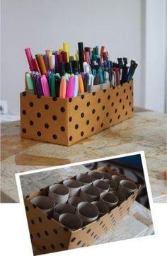 15 idées pour ranger le matériel de bricolage de vos enfants