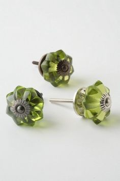 Glass Melon Knob, Brass - eclectic - knobs - other metro - by Rebekah Zaveloff Cabinet And Drawer Knobs, Drawer Pulls, Drawer Hardware, Hobby Lobby Furniture, Furniture Knobs, Glass Door Knobs, Green Cabinets, Old Fashioned Glass, Knobs And Pulls