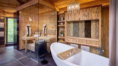 Mit Holzbau in Spitzenqualität auf Erfolgskurs | Holzbau Maier Bathtub, Bathroom, Chalets, Bed Room, Steam Bath, Rustic, Luxury, Standing Bath, Washroom