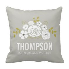Shop Vintage Bouquet Keepsake Throw Pillow created by ChirpsandBlooms. Personalize it with photos & text or purchase as is! Personalized Pillows, Custom Pillows, Decorative Throw Pillows, Wedding Pillows, Pillow Design, Vintage Flowers, Bouquet, Wedding Stuff, Wedding Ideas