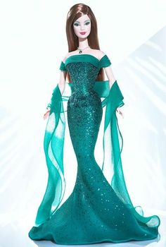 May Emerald™ Barbie® Doll    @Rebecca Harrington - this barbie is your birthday doll and LOOKS like YOU!!!!!  :)