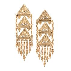 mark. Golden Dynasty Earrings borrow pagodas' trademark tiers and presence to prove statement earrings are back!