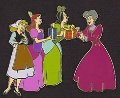 RARE Disney Auctions DRIZELLA, ANASTASIA & LADY TREMAINE Mother's Day LE 100 Pin