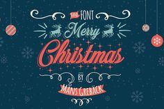 Merry Christmas by Mans Greback on @creativemarket