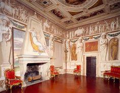 AKG-imágenes -Glimpse of the Hall of Triumphs, frescoed by Gualtiero Padovano (active 1537–1549), Villa Godi Malinverni (UNESCO World Heritage, 1994), Lonedo, Lugo di Vicenza, Veneto.