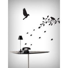 Flying Birds Tree Removable Vinyl Home Wall Art Sticker Decals