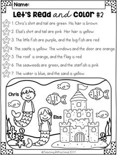 Listen and Color Fall FREEBIE: A Listening Comprehension