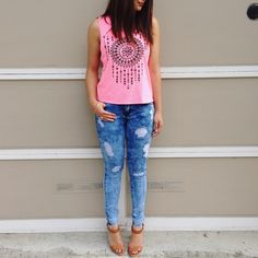 Blogger BFF @kathleencarla is our damsel in distressed denim. http://www.charlotterusse.com/category/Jean-Shop/3476.uts
