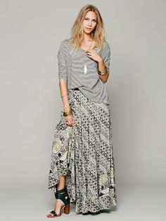 free people skirt---Love this outfit!