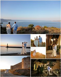 They came from Ontario to elope in Crete - just the two of them and these stunning views at this wedding in Chania area Stunning View, Crete, Ontario, Real Weddings, Wedding Planner, Two By Two, Image, Wedding Planer, Wedding Planners