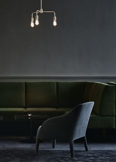 dark grey with dark green and blueish grey...  Le'Roy night club - via cocolapinedesign.com