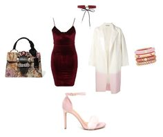 """Red velvet"" by alifedream on Polyvore featuring Glamorous, Dušan, Azalea, Miu Miu and Adolfo Courrier"