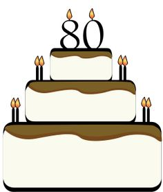 Image result for 80th birthday cake clipart