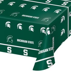 Michigan State Univ 54 x 108 Plastic Tablecover/Case of 12 Tags: Michigan State University; Tablecover; Collegiate; Michigan State University Tablecover;Michigan State University party tableware; https://www.ktsupply.com/products/32786326424/Michigan-State-Univ-54-x-108-Plastic-TablecoverCase-of-12.html