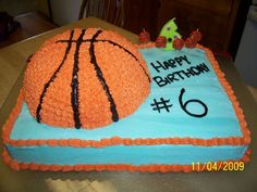 Basketball Cake I made this cake for my daughter's birthday. We did a basketball themed party and this really was the hit of the day...