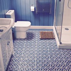 Breathtaking Bathroom Vinyl Flooring Lattice Cornflower Blue Design By Dee Hardwicke For In A Idea Picture Uk Nz Non Slip B Q Home Depot Vinyl Flooring Bathroom, Vinyl Sheet Flooring, Bathroom Vinyl, Kitchen Vinyl, Vinyl Tiles, Hallway Flooring, Flooring Tiles, Hall Bathroom, Bathroom Ideas
