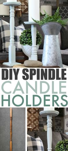 DIY Spindle Candle H
