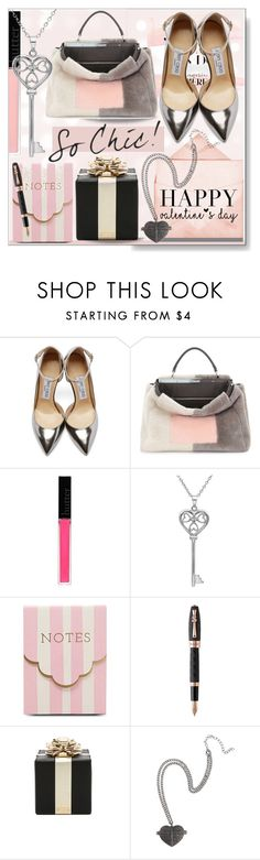 """""""Valentine's Card * For Polyfriends!"""" by calamity-jane-always ❤ liked on Polyvore featuring Jimmy Choo, Fendi, Butter London, Amanda Rose Collection, Meri Meri, Montegrappa, Kate Spade, valentinesday and polyfriends"""